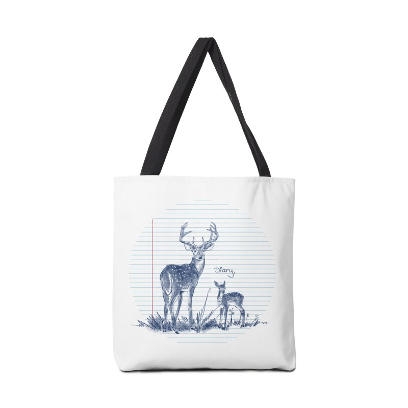 Deer Diary, Accessories Tote Bag Bag by kooky love's Artist Shop