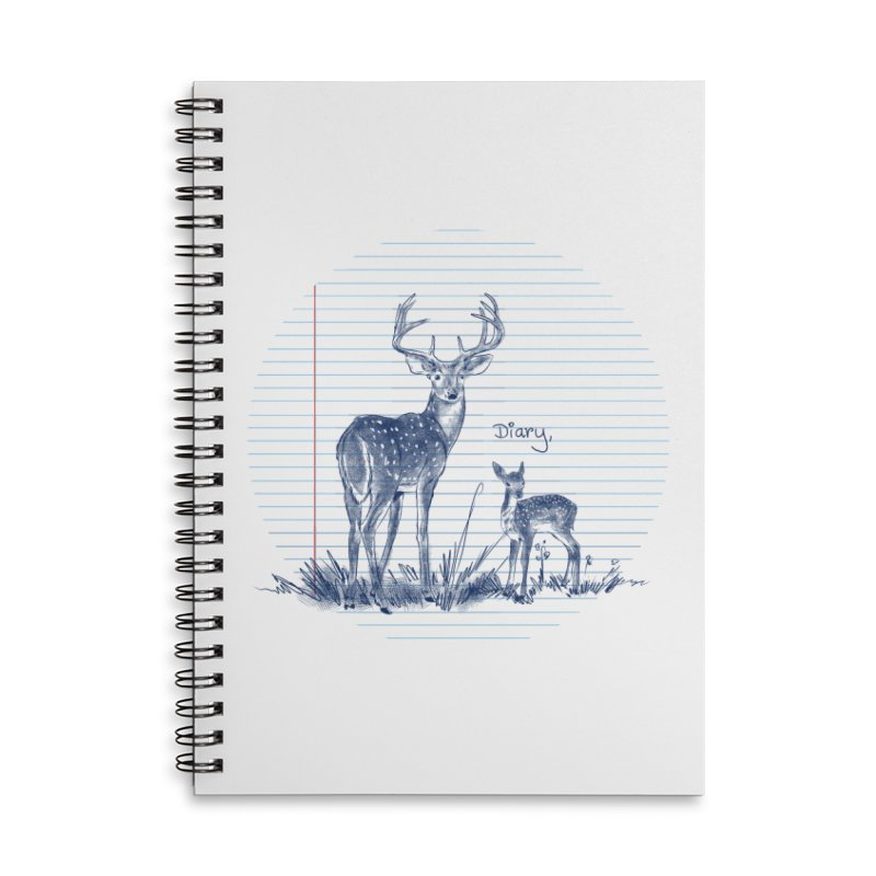 Deer Diary, Accessories Lined Spiral Notebook by kooky love's Artist Shop