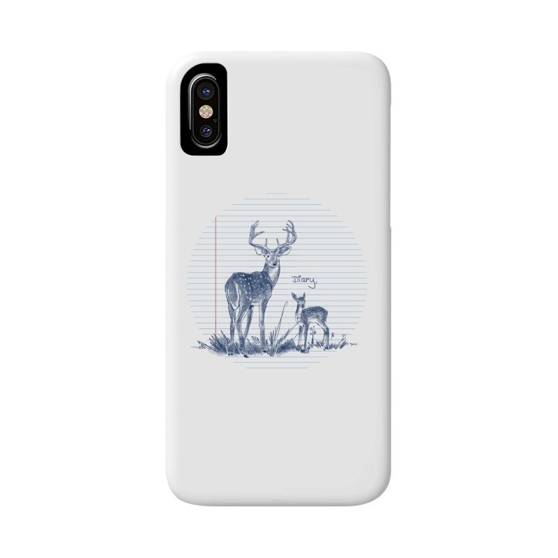 Deer Diary, Accessories Phone Case by kooky love's Artist Shop