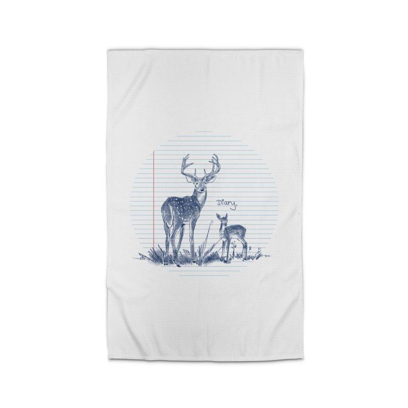 Deer Diary, Home Rug by kooky love's Artist Shop