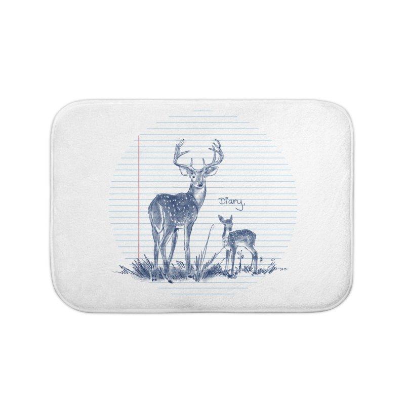 Deer Diary, Home Bath Mat by kooky love's Artist Shop