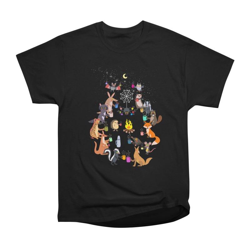 Nocturnal Shift Men's Heavyweight T-Shirt by kooky love's Artist Shop