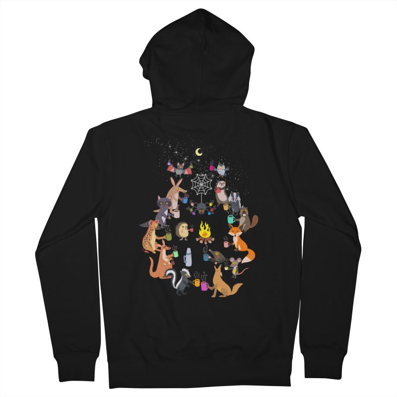 Nocturnal Shift Men's French Terry Zip-Up Hoody by kooky love's Artist Shop