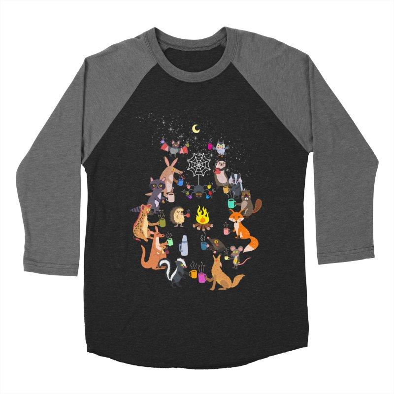 Nocturnal Shift Men's Baseball Triblend Longsleeve T-Shirt by kooky love's Artist Shop