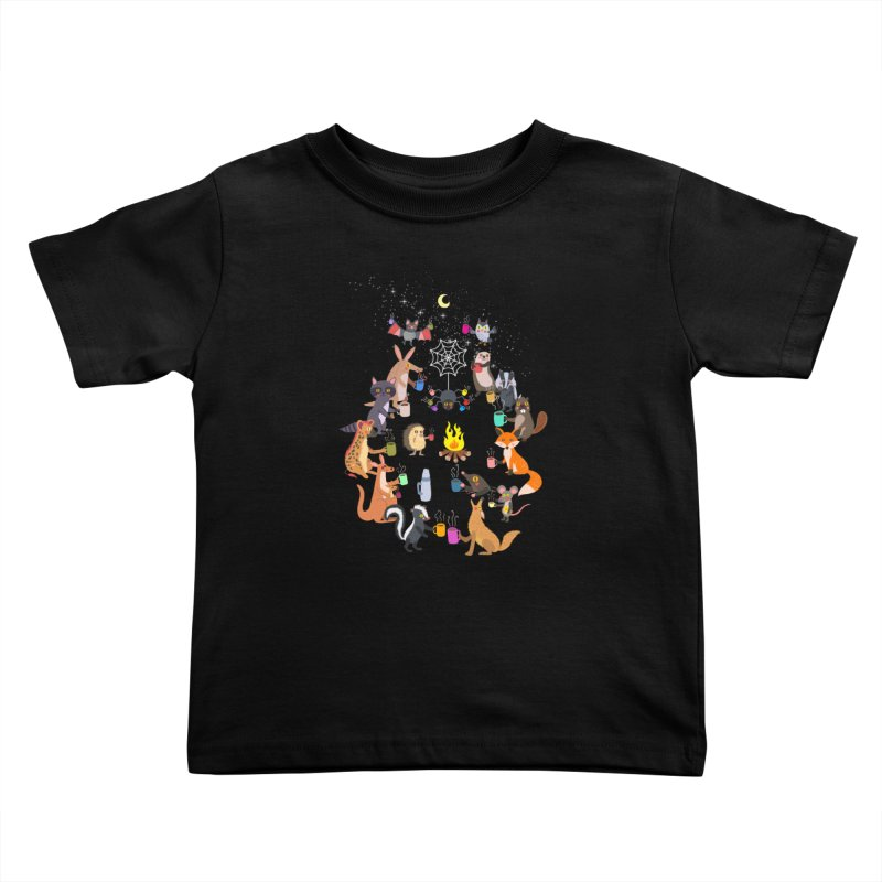Nocturnal Shift Kids Toddler T-Shirt by kooky love's Artist Shop