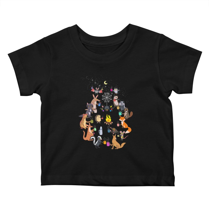Nocturnal Shift Kids Baby T-Shirt by kooky love's Artist Shop