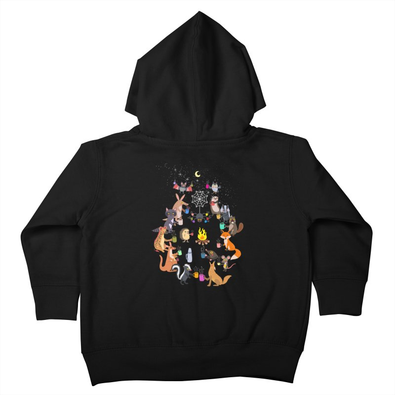 Nocturnal Shift Kids Toddler Zip-Up Hoody by kooky love's Artist Shop
