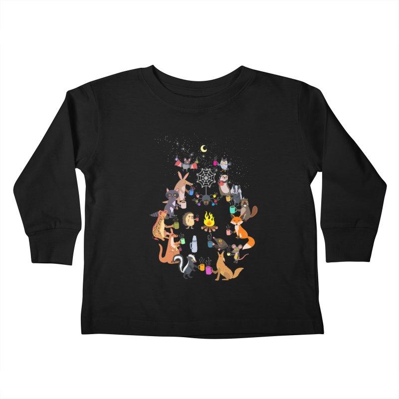 Nocturnal Shift Kids Toddler Longsleeve T-Shirt by kooky love's Artist Shop
