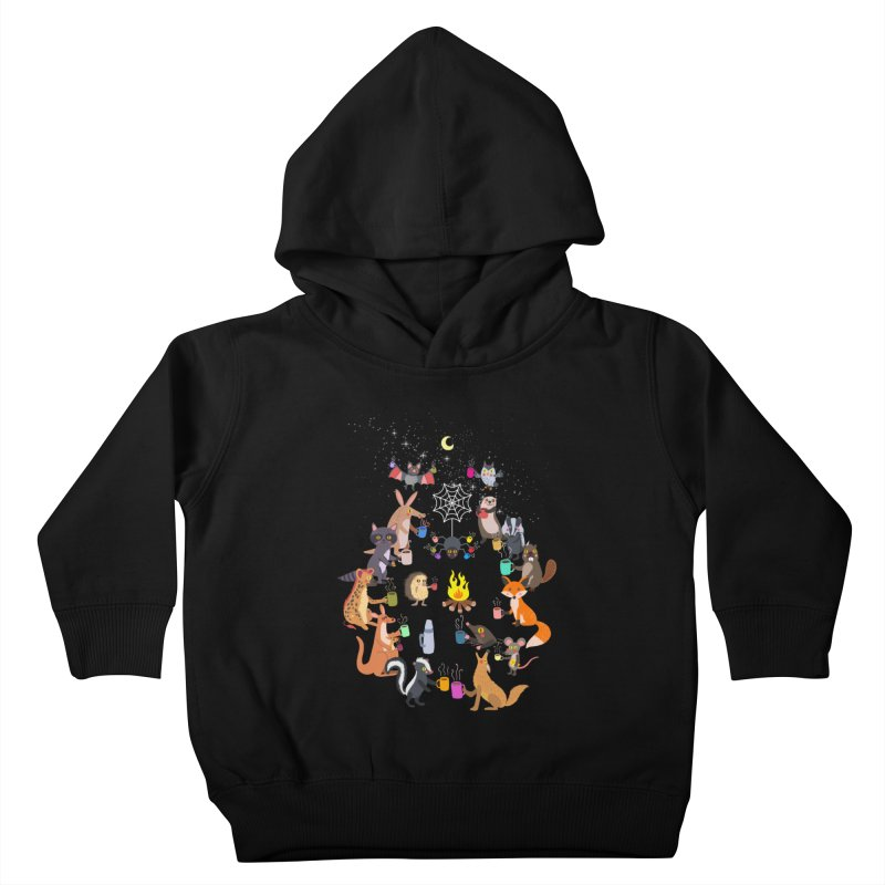 Nocturnal Shift Kids Toddler Pullover Hoody by kooky love's Artist Shop
