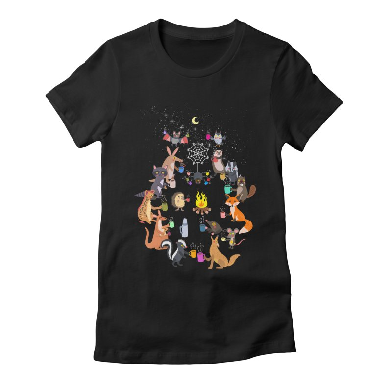 Nocturnal Shift Women's Fitted T-Shirt by kooky love's Artist Shop