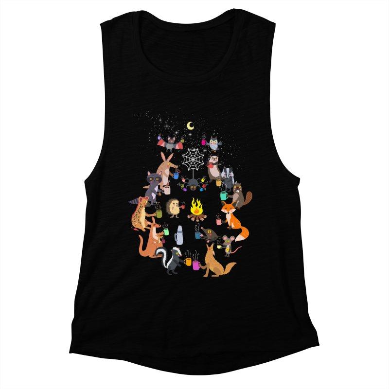 Nocturnal Shift Women's Muscle Tank by kooky love's Artist Shop