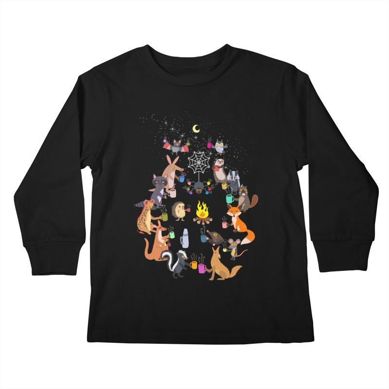 Nocturnal Shift Kids Longsleeve T-Shirt by kooky love's Artist Shop