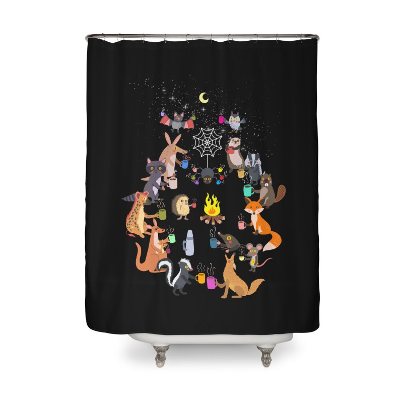 Nocturnal Shift Home Shower Curtain by kooky love's Artist Shop