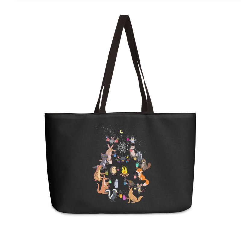 Nocturnal Shift Accessories Weekender Bag Bag by kooky love's Artist Shop