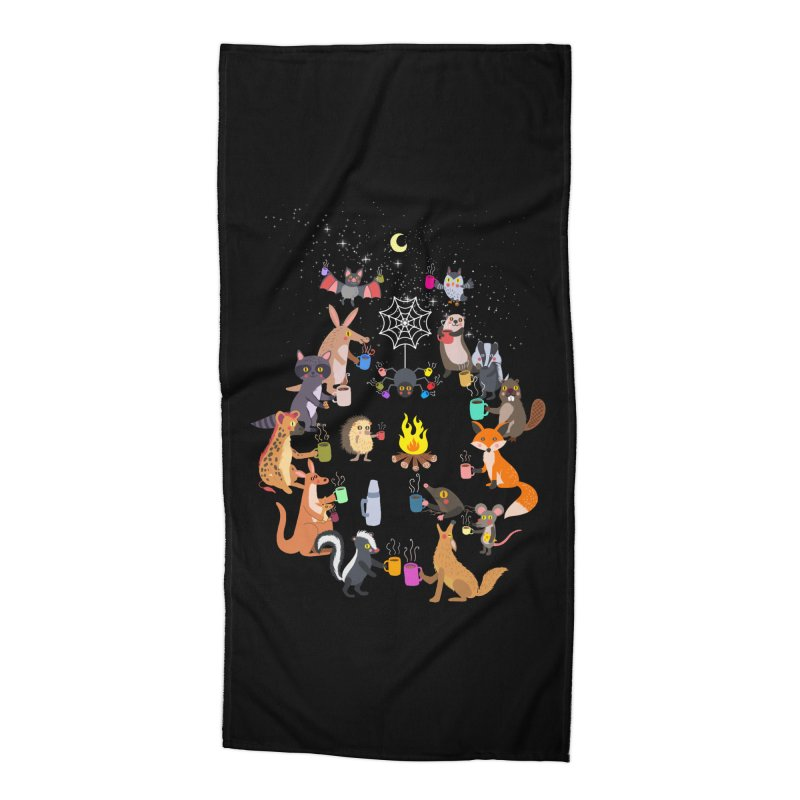 Nocturnal Shift Accessories Beach Towel by kooky love's Artist Shop