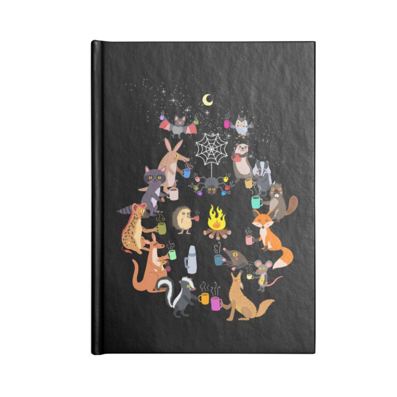 Nocturnal Shift Accessories Lined Journal Notebook by kooky love's Artist Shop