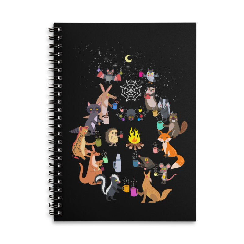 Nocturnal Shift Accessories Lined Spiral Notebook by kooky love's Artist Shop