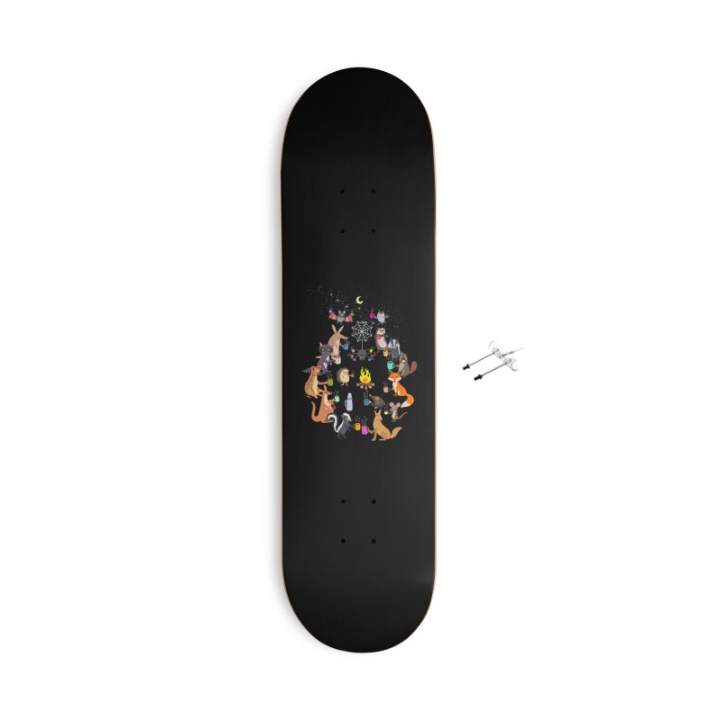 Nocturnal Shift Accessories With Hanging Hardware Skateboard by kooky love's Artist Shop
