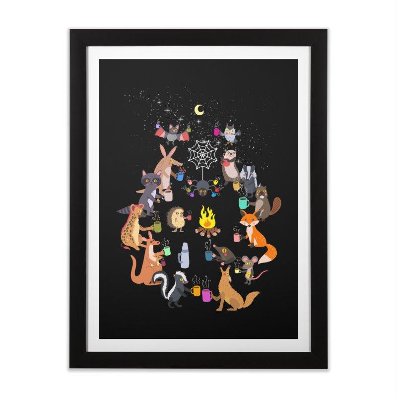 Nocturnal Shift Home Framed Fine Art Print by kooky love's Artist Shop