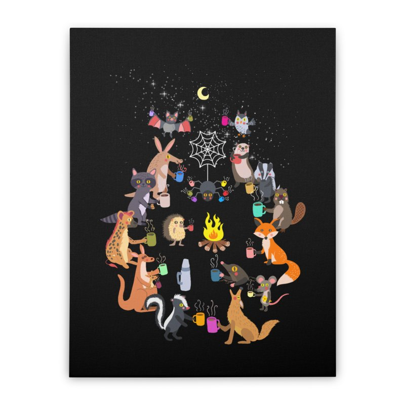Nocturnal Shift Home Stretched Canvas by kooky love's Artist Shop