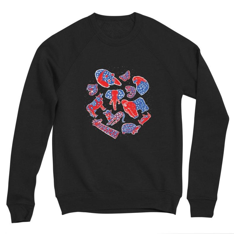 AMERICANIMAL Men's Sponge Fleece Sweatshirt by kooky love's Artist Shop