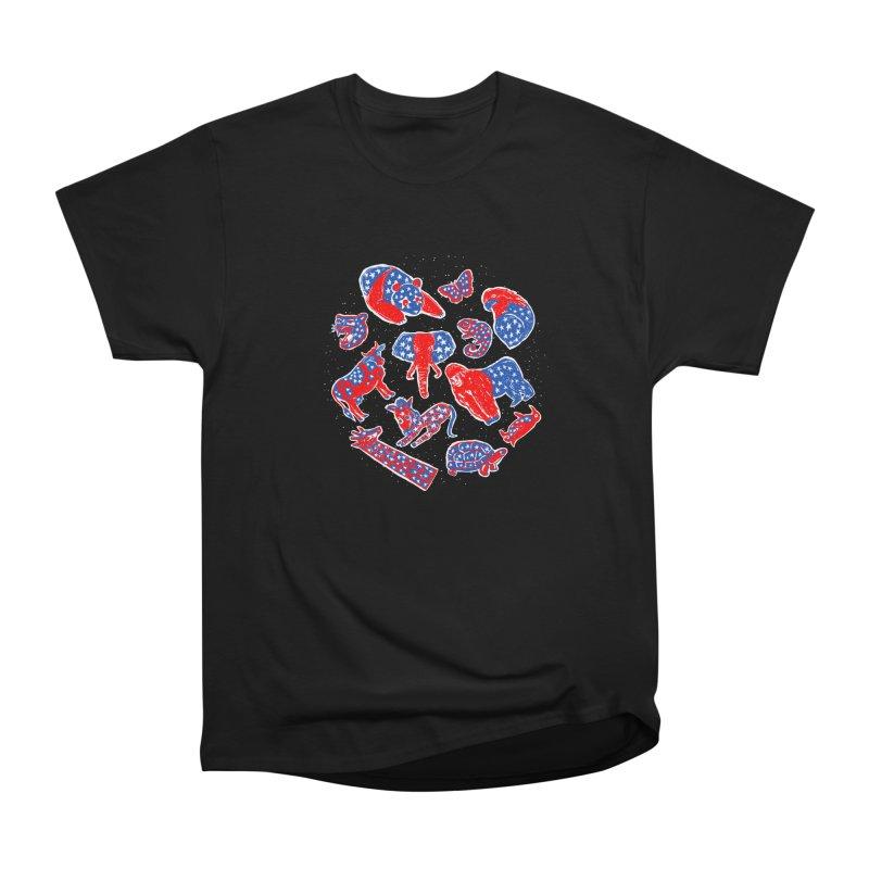AMERICANIMAL Men's Heavyweight T-Shirt by kooky love's Artist Shop