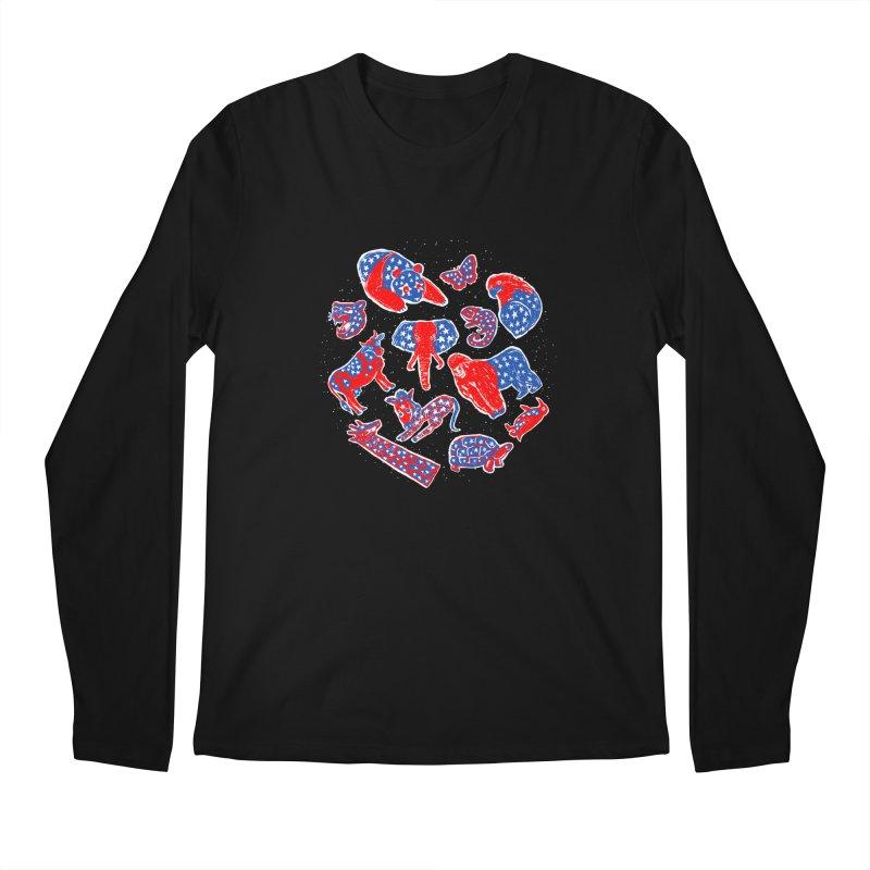 AMERICANIMAL Men's Regular Longsleeve T-Shirt by kooky love's Artist Shop