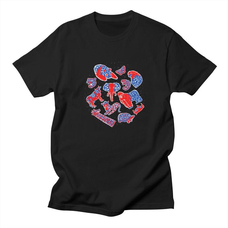 AMERICANIMAL Men's Regular T-Shirt by kooky love's Artist Shop
