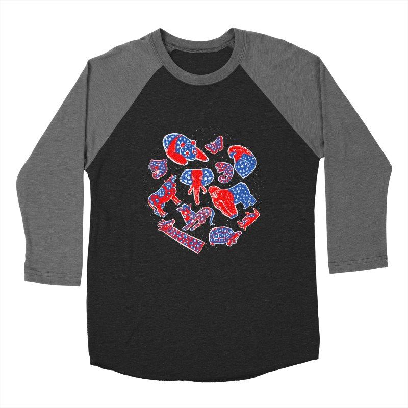 AMERICANIMAL Men's Baseball Triblend Longsleeve T-Shirt by kooky love's Artist Shop
