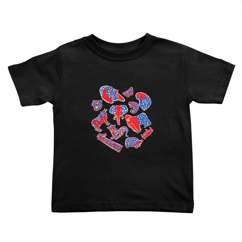 AMERICANIMAL Kids Toddler T-Shirt by kooky love's Artist Shop