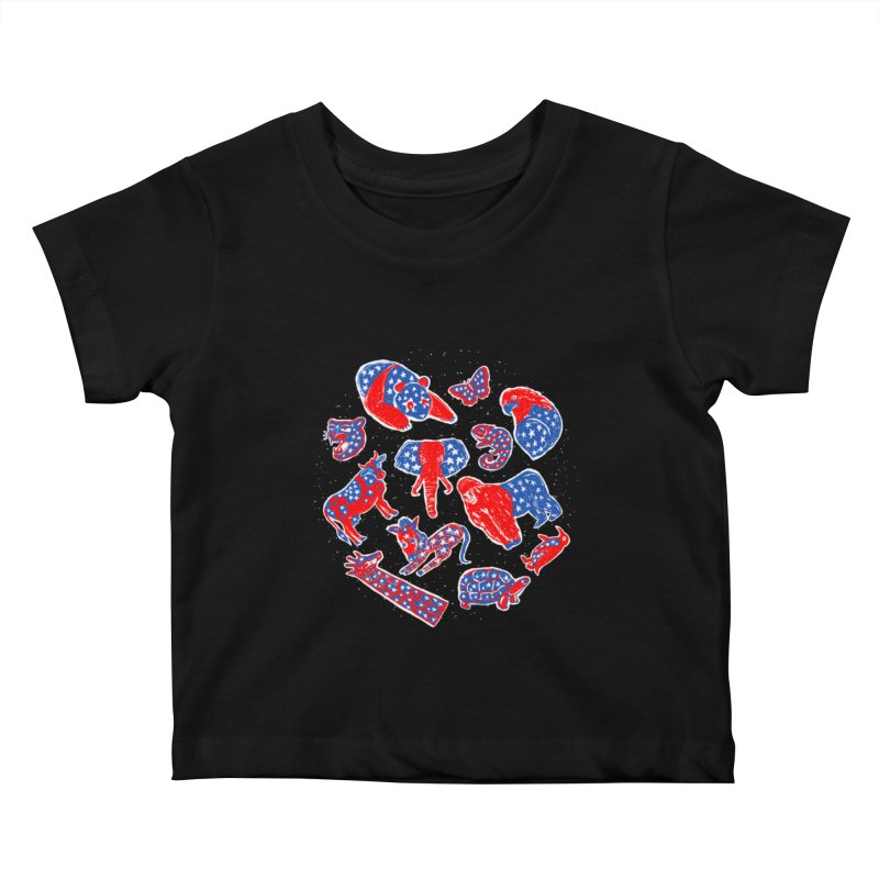 AMERICANIMAL Kids Baby T-Shirt by kooky love's Artist Shop