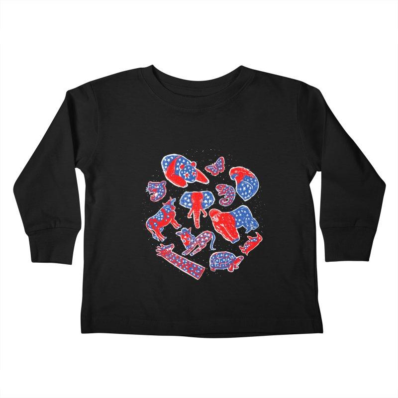 AMERICANIMAL Kids Toddler Longsleeve T-Shirt by kooky love's Artist Shop