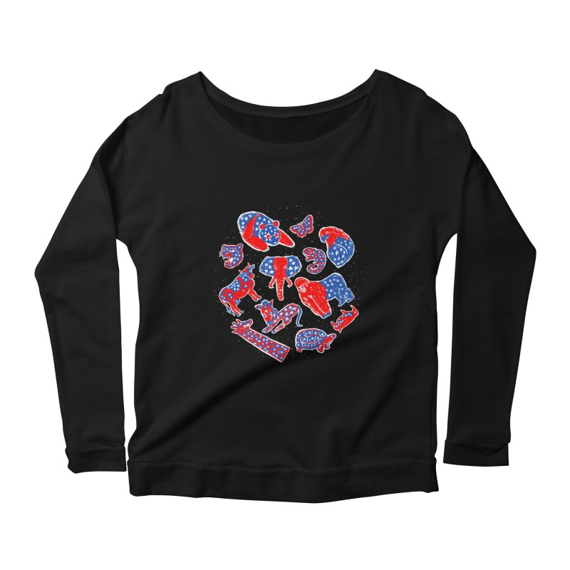 AMERICANIMAL Women's Scoop Neck Longsleeve T-Shirt by kooky love's Artist Shop