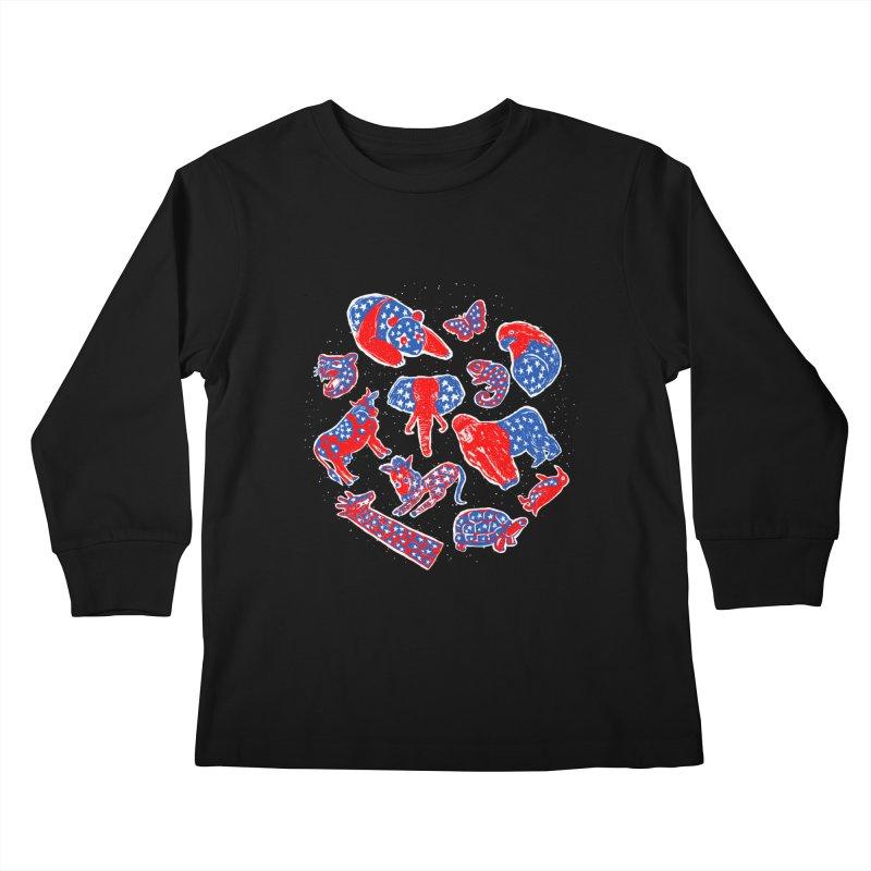 AMERICANIMAL Kids Longsleeve T-Shirt by kooky love's Artist Shop