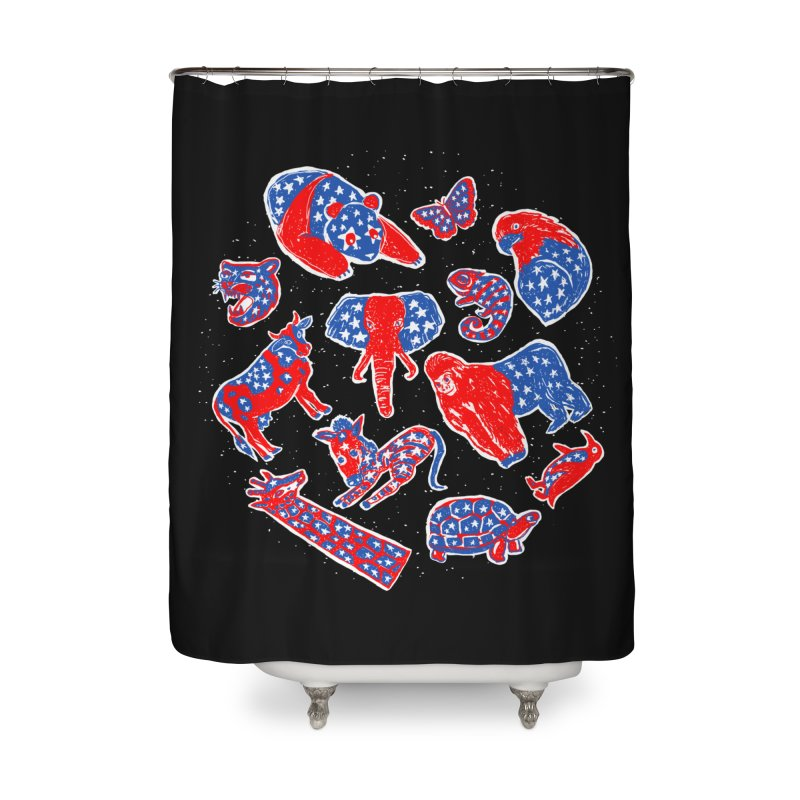 AMERICANIMAL Home Shower Curtain by kooky love's Artist Shop