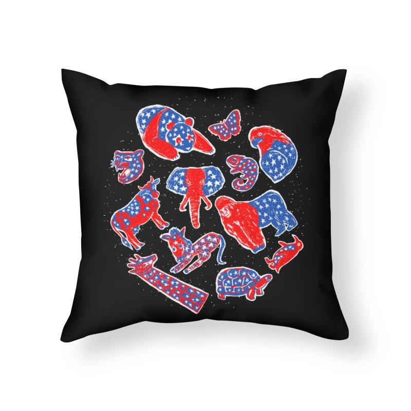 AMERICANIMAL Home Throw Pillow by kooky love's Artist Shop