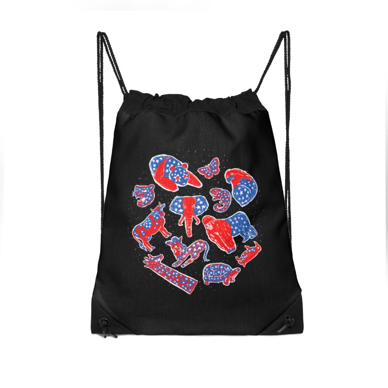 AMERICANIMAL Accessories Drawstring Bag Bag by kooky love's Artist Shop