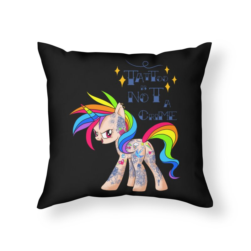 Tattoo is Not A Crime Home Throw Pillow by kooky love's Artist Shop