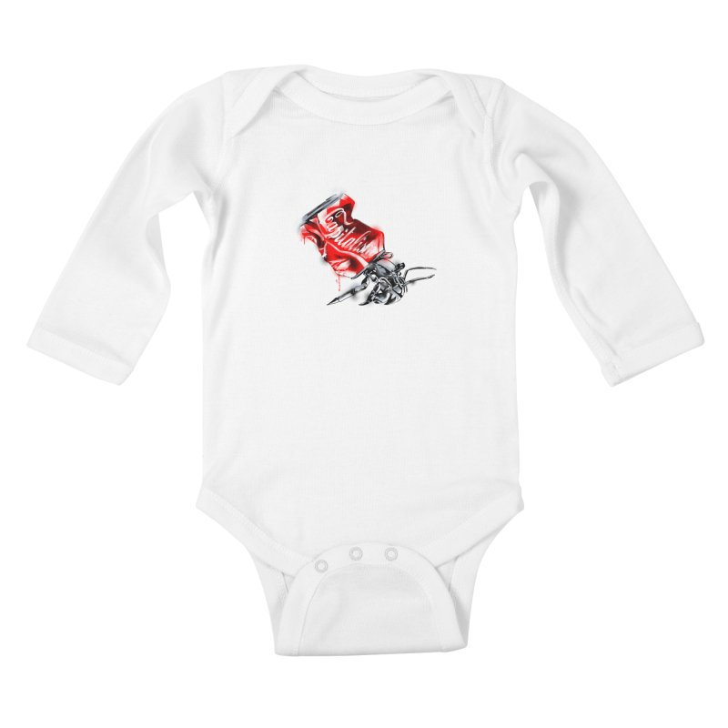 Capitalism Kids Baby Longsleeve Bodysuit by kooky love's Artist Shop