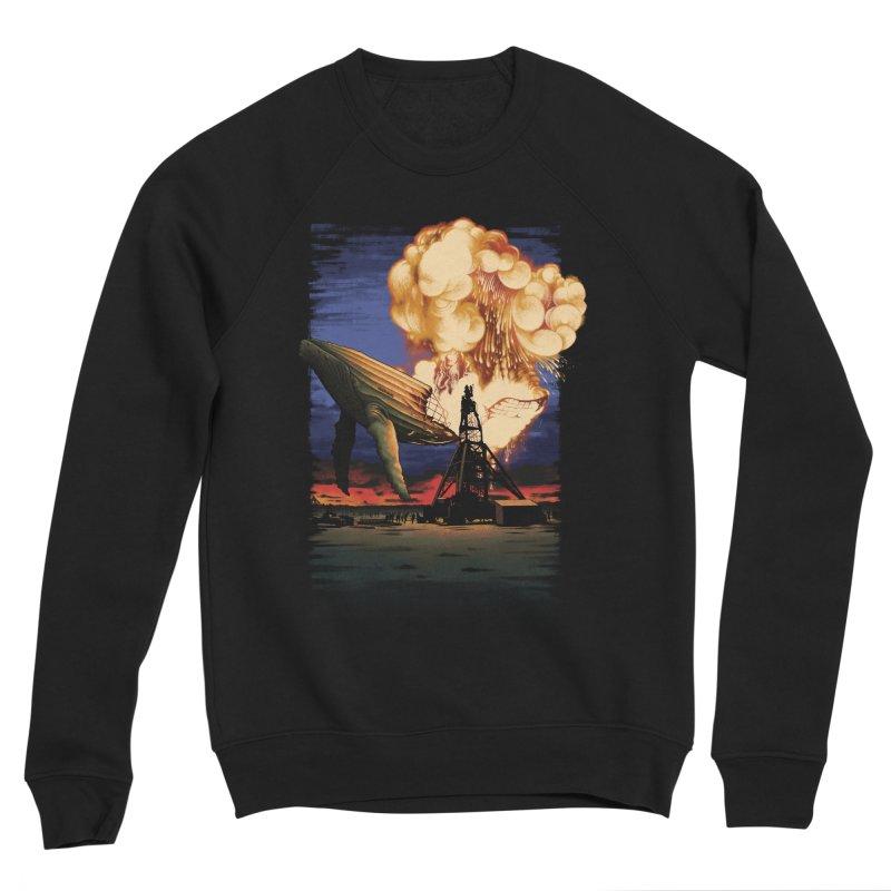 Hindenburg Whale Von Zeppelin Men's Sponge Fleece Sweatshirt by kooky love's Artist Shop