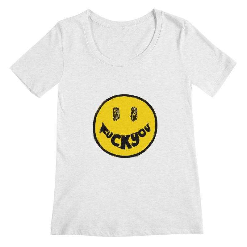 In My Smile Women's Regular Scoop Neck by kooky love's Artist Shop