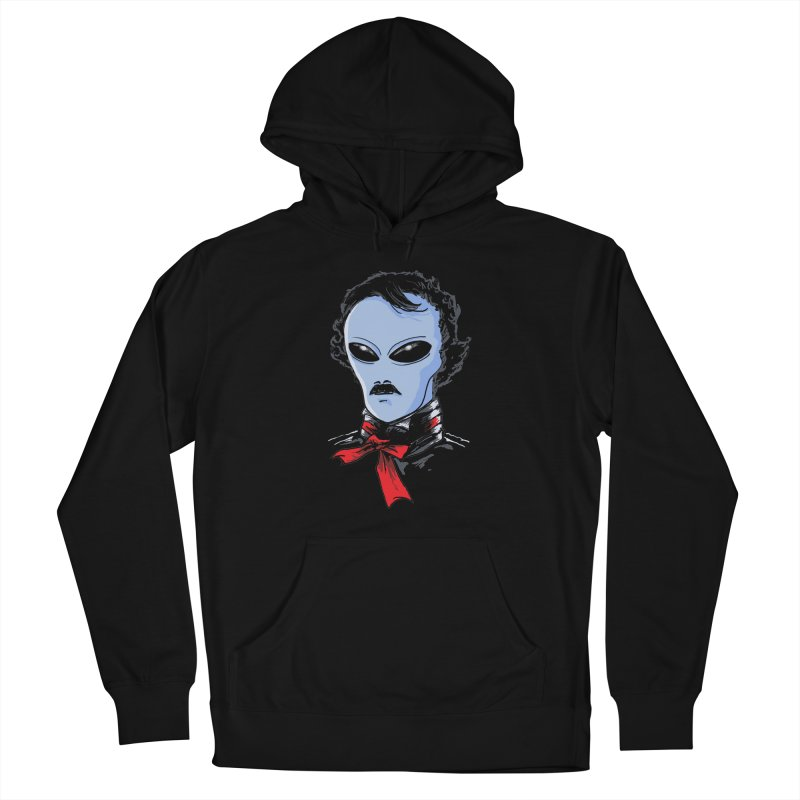 Edgar Alien Poe Women's French Terry Pullover Hoody by kooky love's Artist Shop