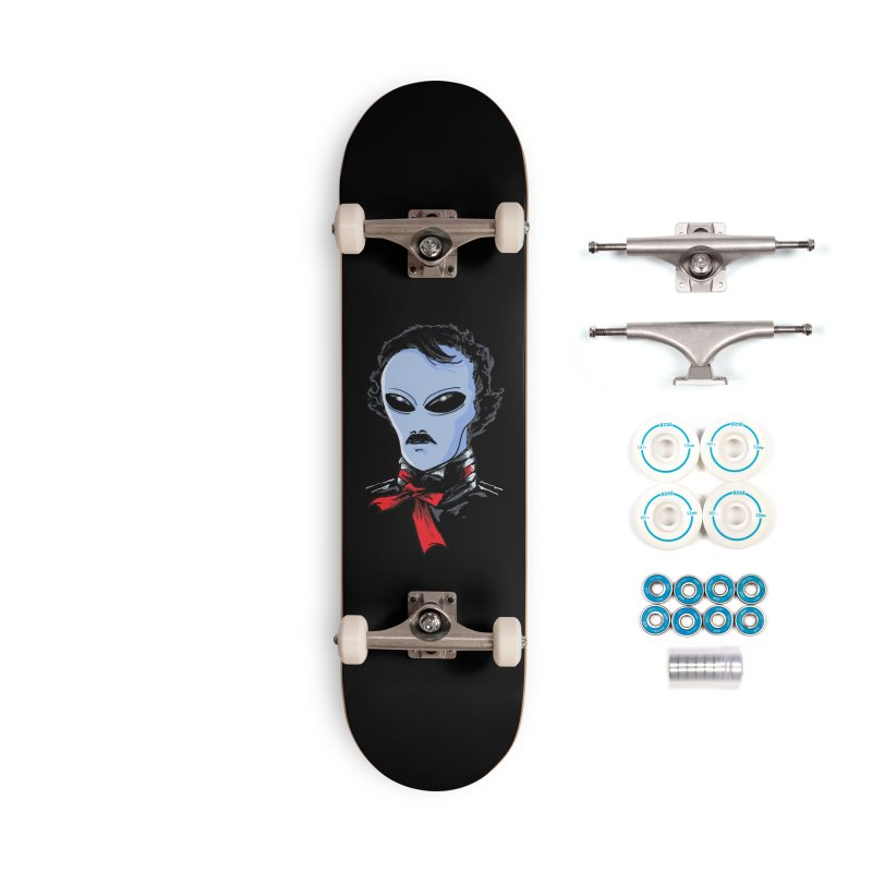 Edgar Alien Poe Accessories Complete - Basic Skateboard by kooky love's Artist Shop