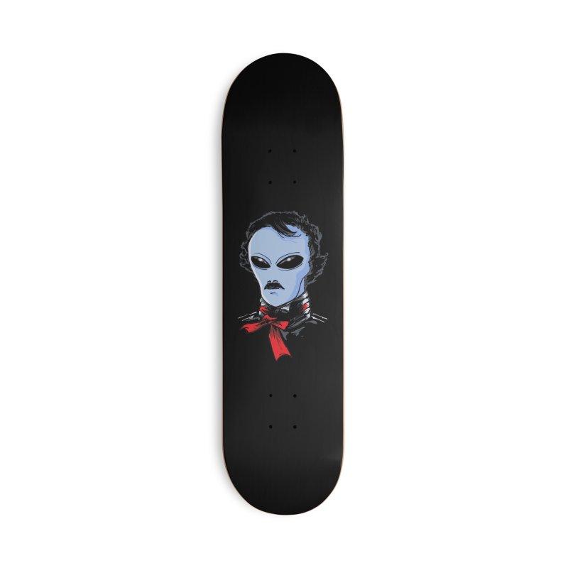 Edgar Alien Poe Accessories Deck Only Skateboard by kooky love's Artist Shop