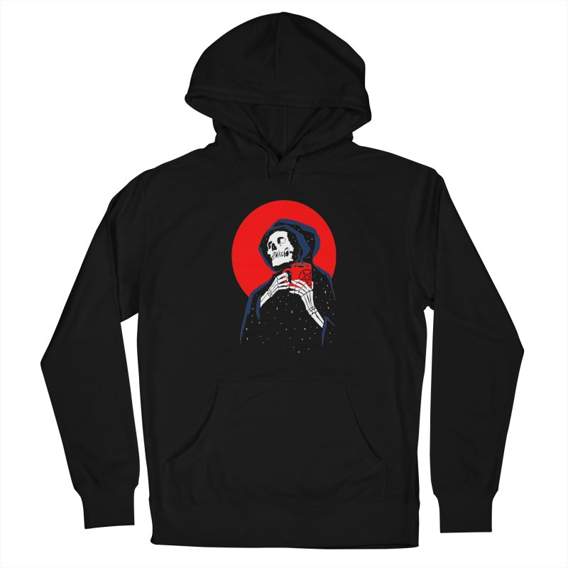Dark Coffee Women's French Terry Pullover Hoody by kooky love's Artist Shop