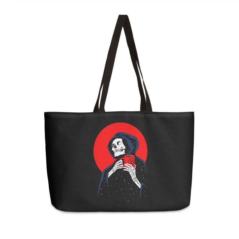 Dark Coffee Accessories Weekender Bag Bag by kooky love's Artist Shop
