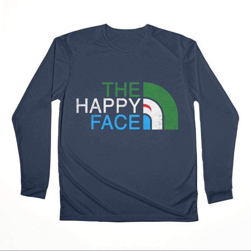 THE HAPPY FACE Men's Performance Longsleeve T-Shirt by kooky love's Artist Shop