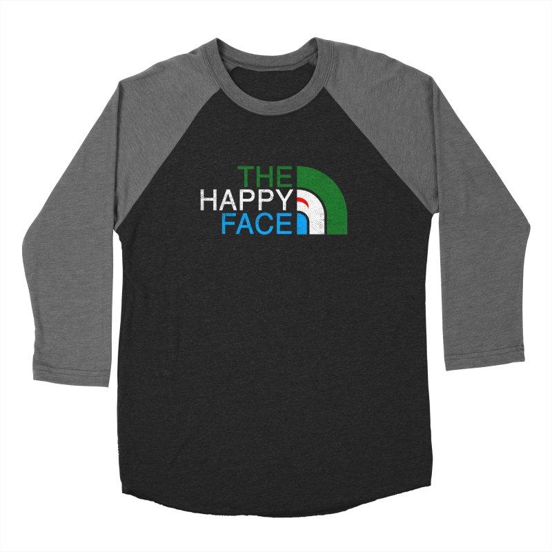 THE HAPPY FACE Men's Baseball Triblend Longsleeve T-Shirt by kooky love's Artist Shop