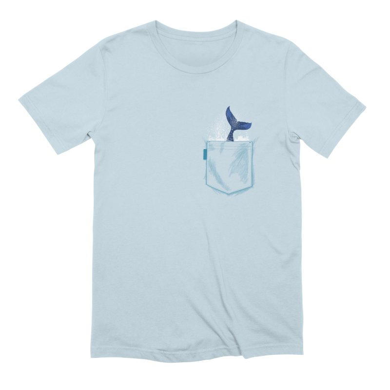 Meanwhale in my pocket Men's Extra Soft T-Shirt by kooky love's Artist Shop