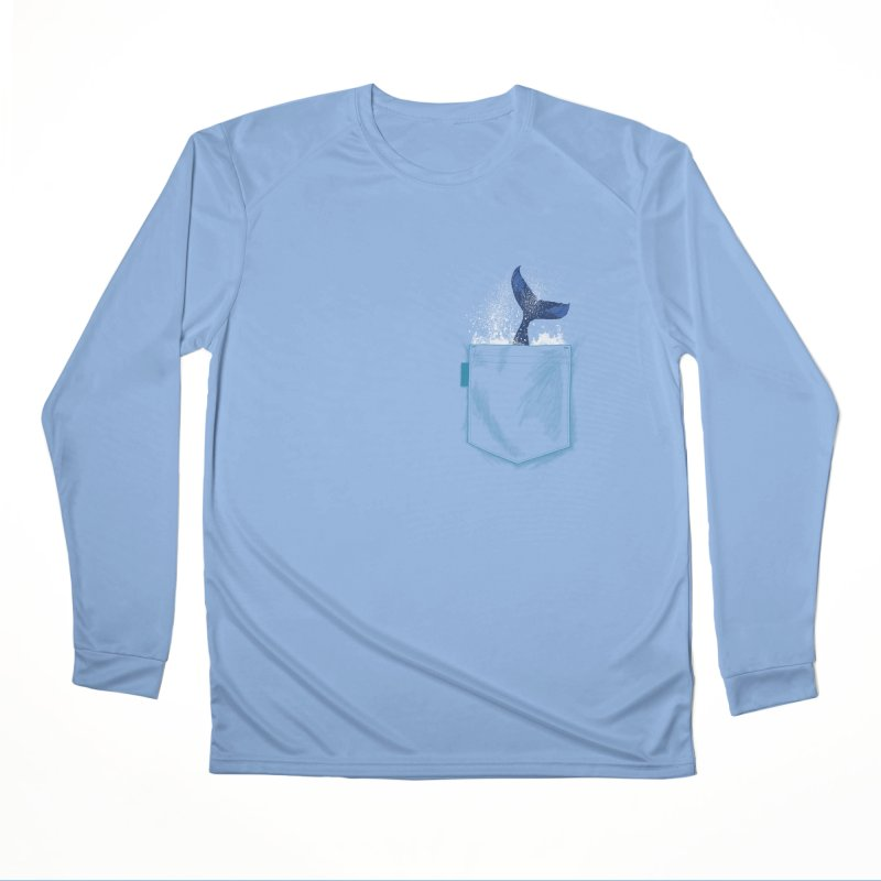 Meanwhale in my pocket Men's Performance Longsleeve T-Shirt by kooky love's Artist Shop